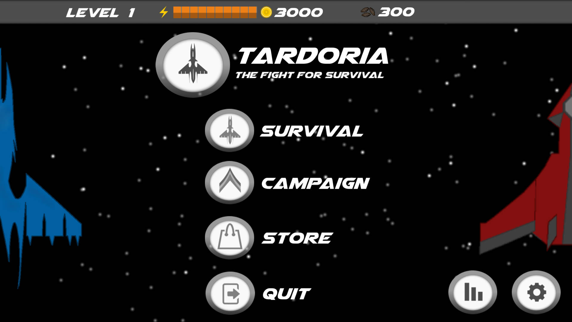Menu screen of Tardoria